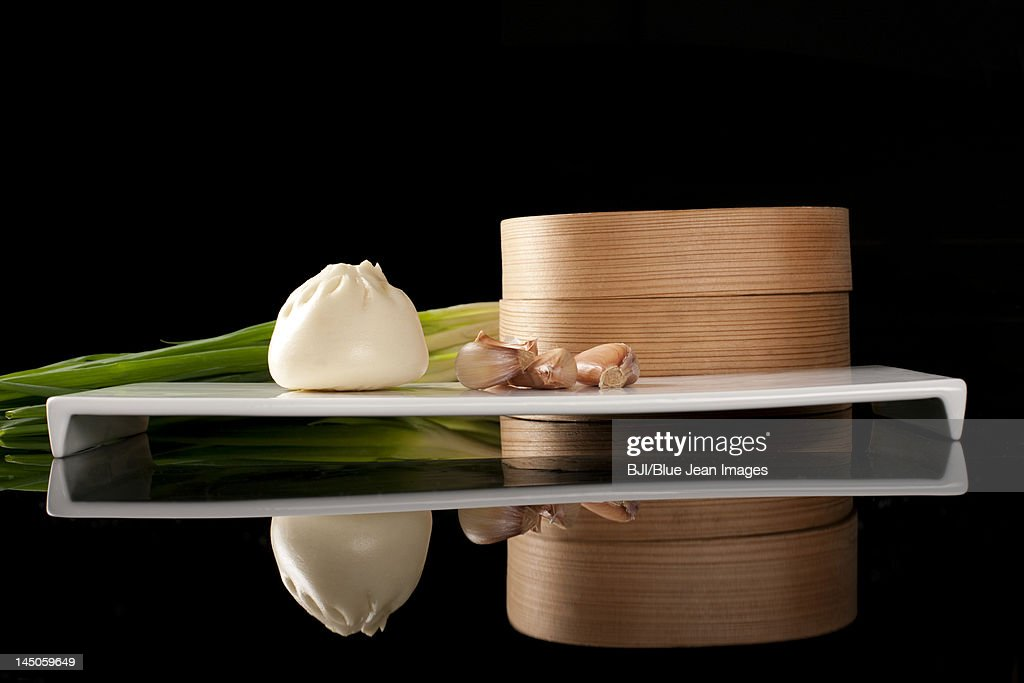 Close-up of Chinese Steamed Bun : Stock Photo