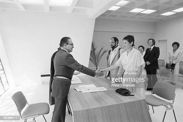 CloseUp Of Christian Bonnet France Carnac 18 aout 1980 l'homme politique français Christian BONNET membre du parti UDF est ministre de l'Intérieur Il...