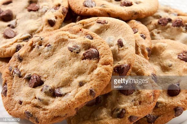Chunky biscotti con scaglie di cioccolato