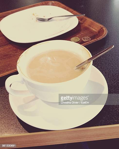 Close-Up Of Coffee Cup In Cafe