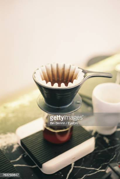 Close-Up Of Coffee Filter In Container