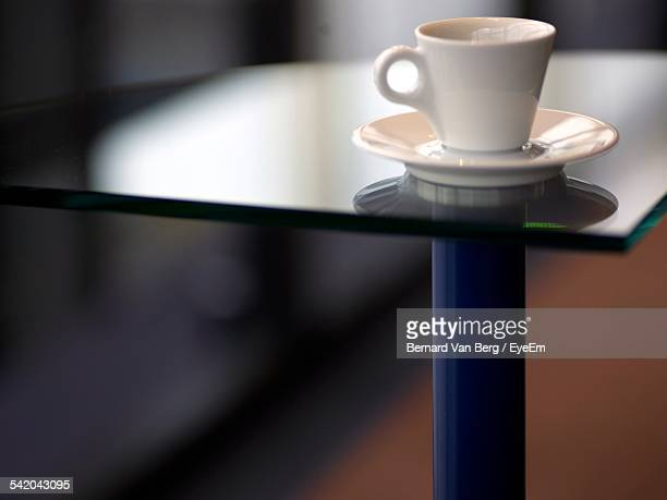 Close-Up Of Coffee On Table In Restaurant