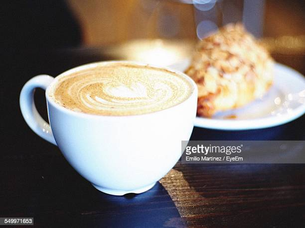 Close-Up Of Coffee Served On Table