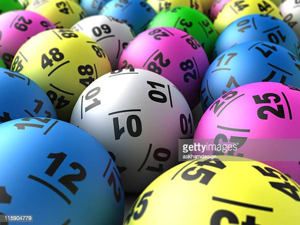 Close-up of colorful lottery balls