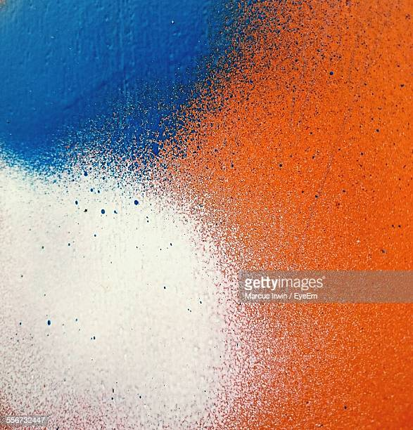 Close-Up Of Colorful Painted Wall