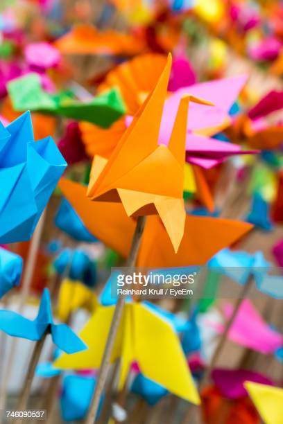 Close-Up Of Colorful Paper Flower