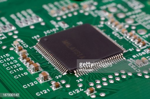 Close-up of Computer Chip CPU