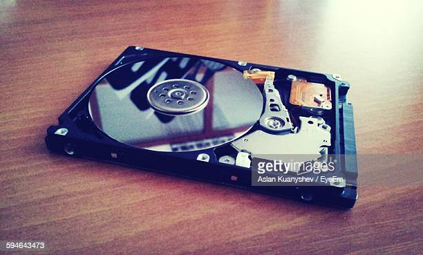 Close-Up Of Computer Hard Drive On Table
