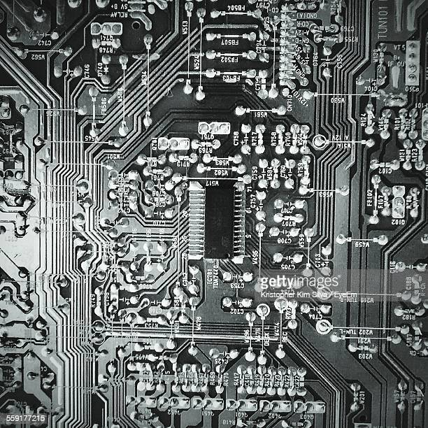 Close-Up Of Computer Mother Board