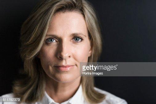 Close-up of confident businesswoman