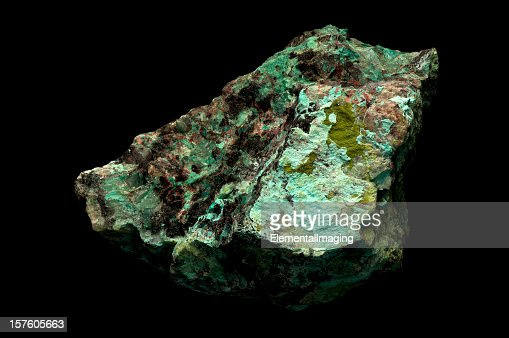 Close-up of copper ore from mine