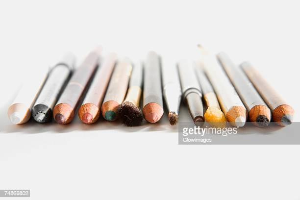Close-up of cosmetics pencils