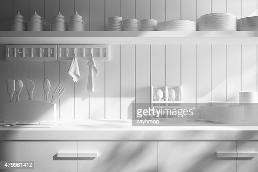 Kitchen Counter Close Up closeup of counter and kitchen accessories stock photo | thinkstock
