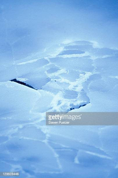 Close-up of cracked ice
