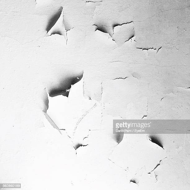 Close-Up Of Cracked White Wall