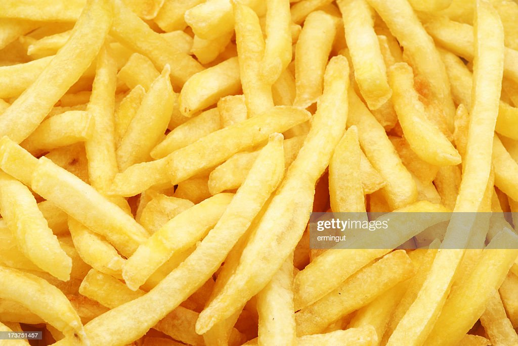 French Fries Background Stock Photo | Getty Images