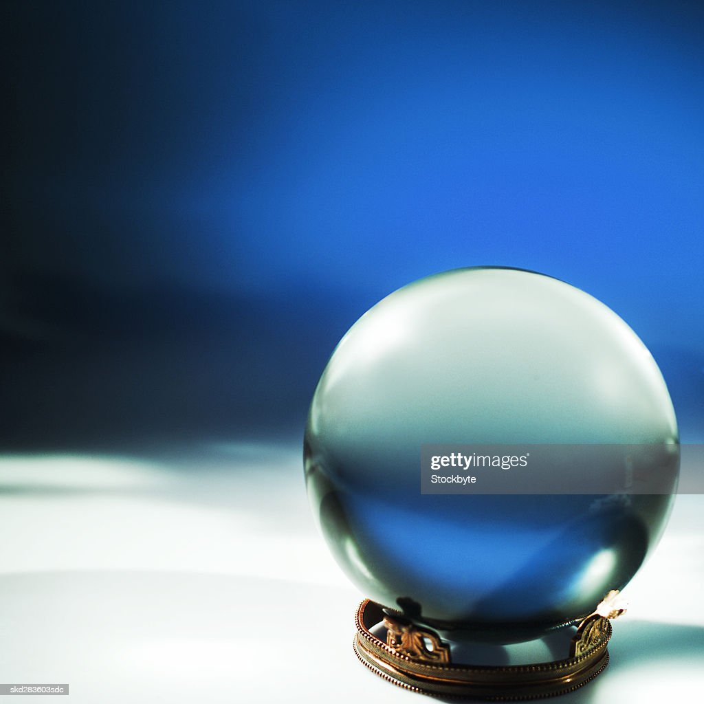 Close-up of crystal ball : Stock Photo