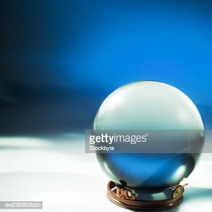 Close-up of crystal ball : Stock Photo