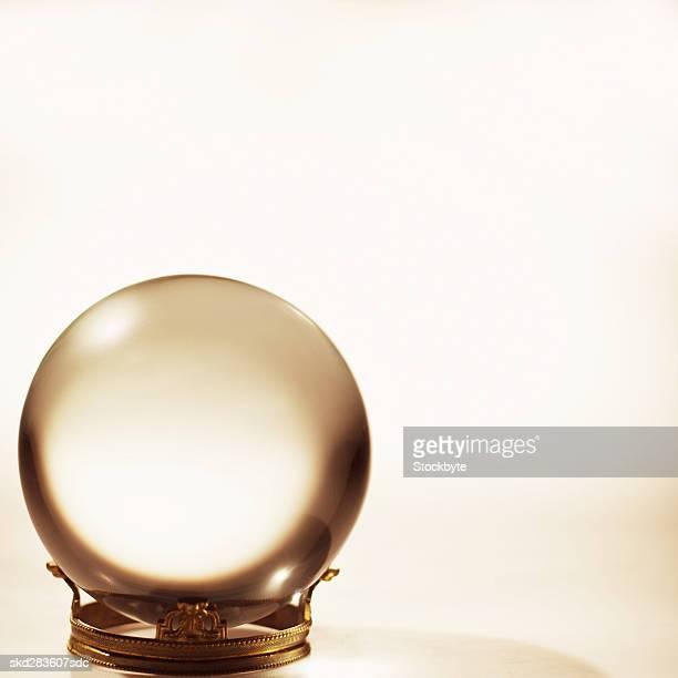 Close-up of crystal ball