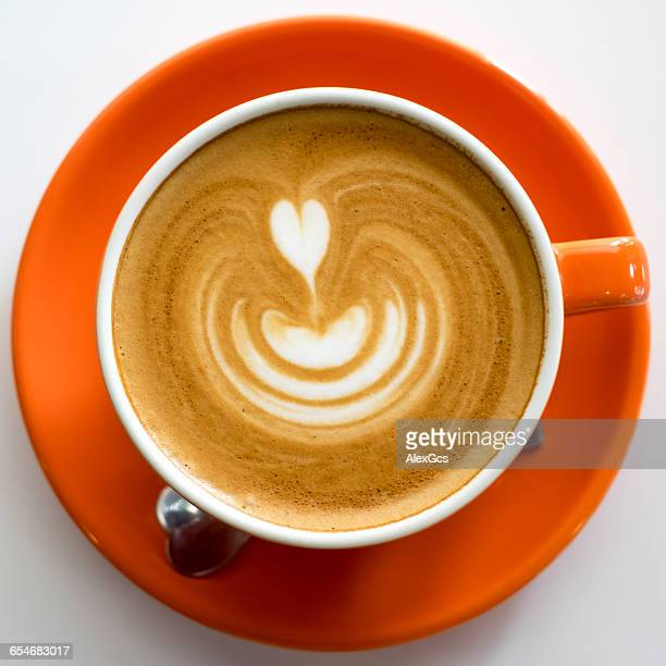 Close-up of cup of Cappuccino coffee