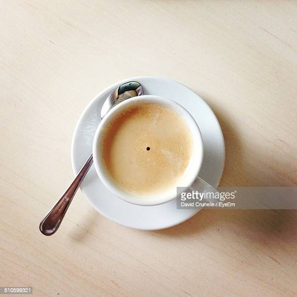 Close-up of cup of coffee