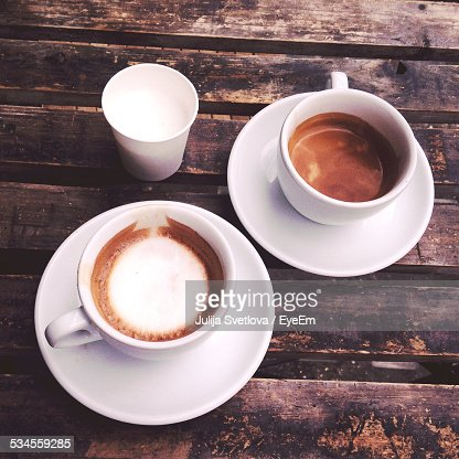Close-Up of Cups of Espresso Coffee