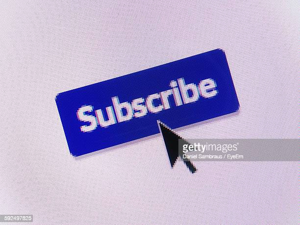 Close-Up Of Cursor On Subscribe Icon
