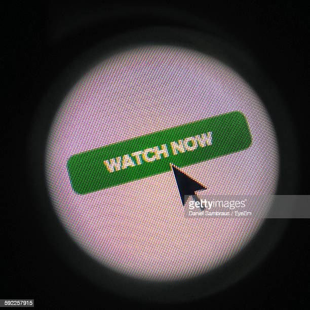 Close-Up Of Cursor On Watch Now