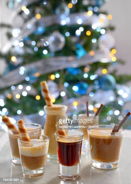Close-Up Of Desserts On Table During Christmas