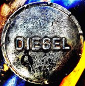 Close-Up Of Diesel Barrel