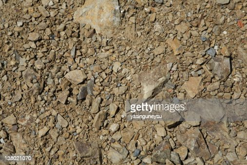 Close-up of dirt and rocks on the ground