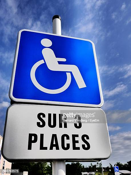 Close-Up Of Disabled Sign