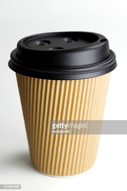 Close-up of disposable coffee cup