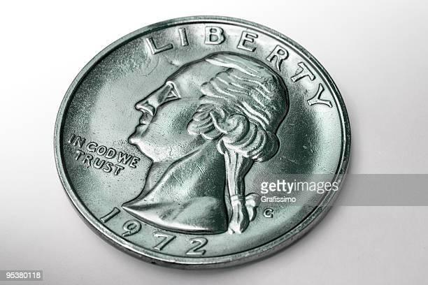 Close-up of dollar coin