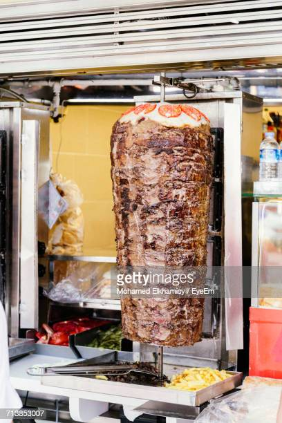 Close-Up Of Doner Kebab At Stall