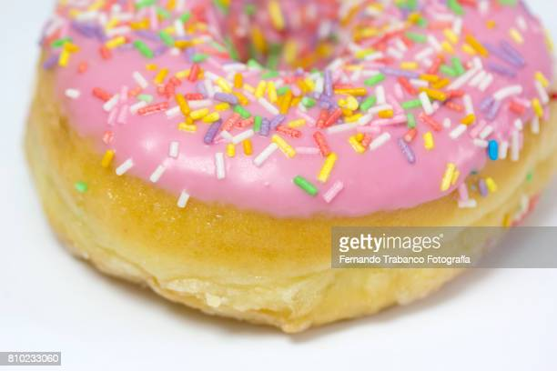 Close-up of donuts
