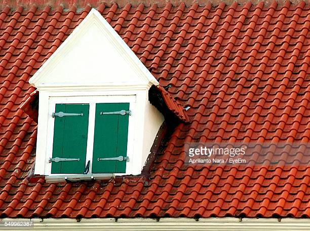 Close-Up Of Dormer Window Against Roof