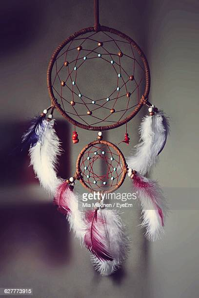 Close-Up Of Dreamcatcher At Home
