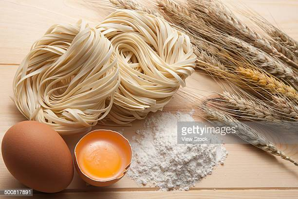 Close-up of dried noodles