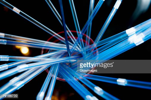 Close-up of drinking straws in a sink : Stock Photo