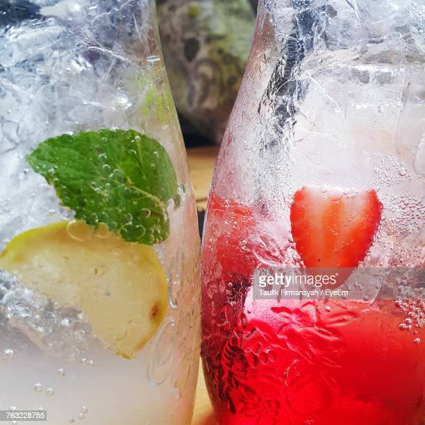 Close-Up Of Drinks In Glass