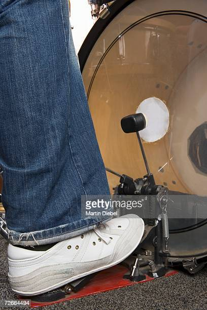 Close-up of drummer?s foot and bass drum