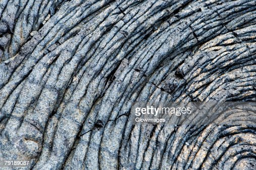 Close-up of dry lava surface, Kalapana, Big Island, Hawaii Islands, USA : Stock Photo