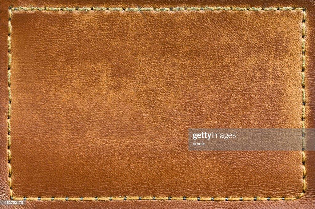 Leere Jeans Label aus Leder