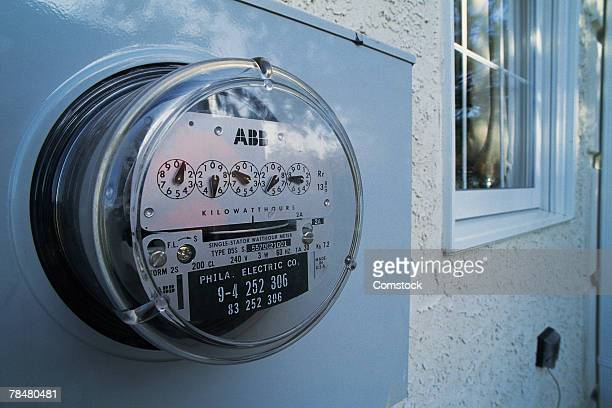 Close-up of electric meter