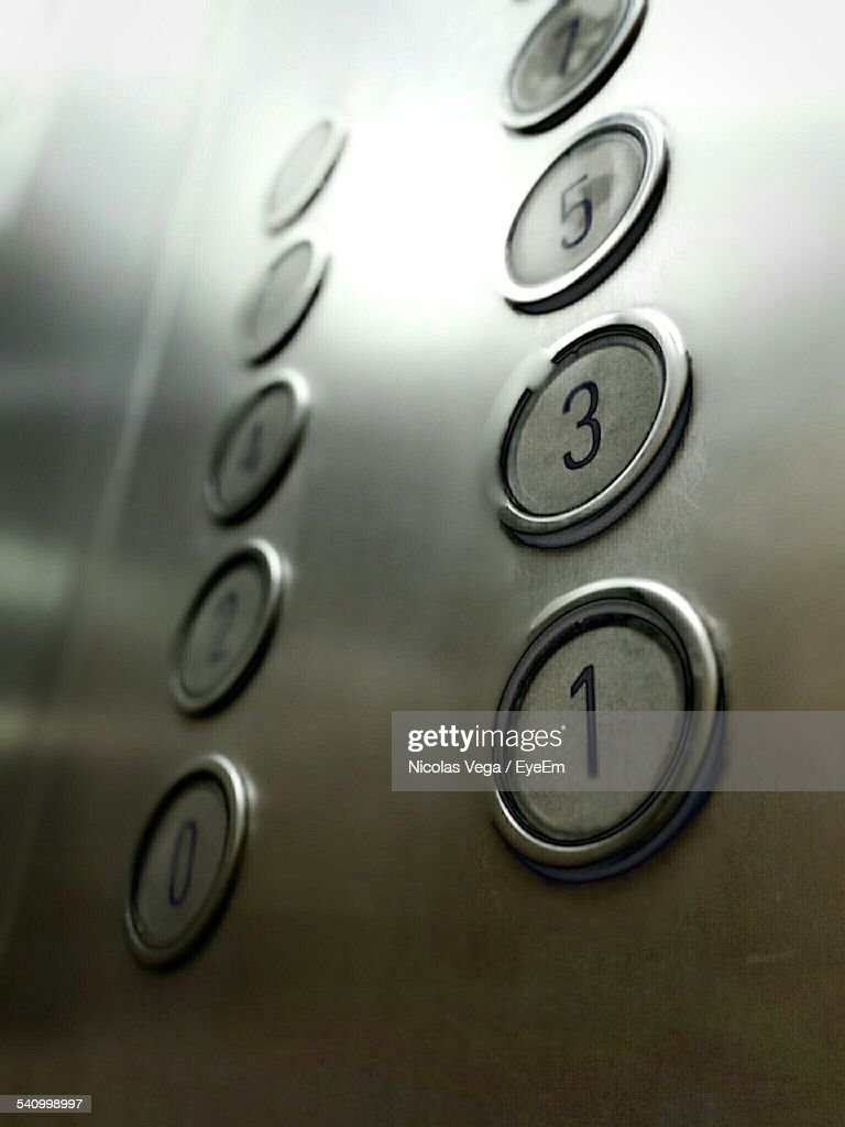 Close-Up Of Elevator Buttons