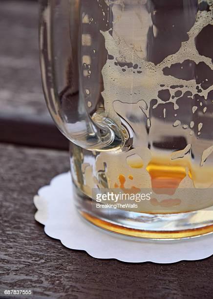 Close-Up Of Empty Beer Mug