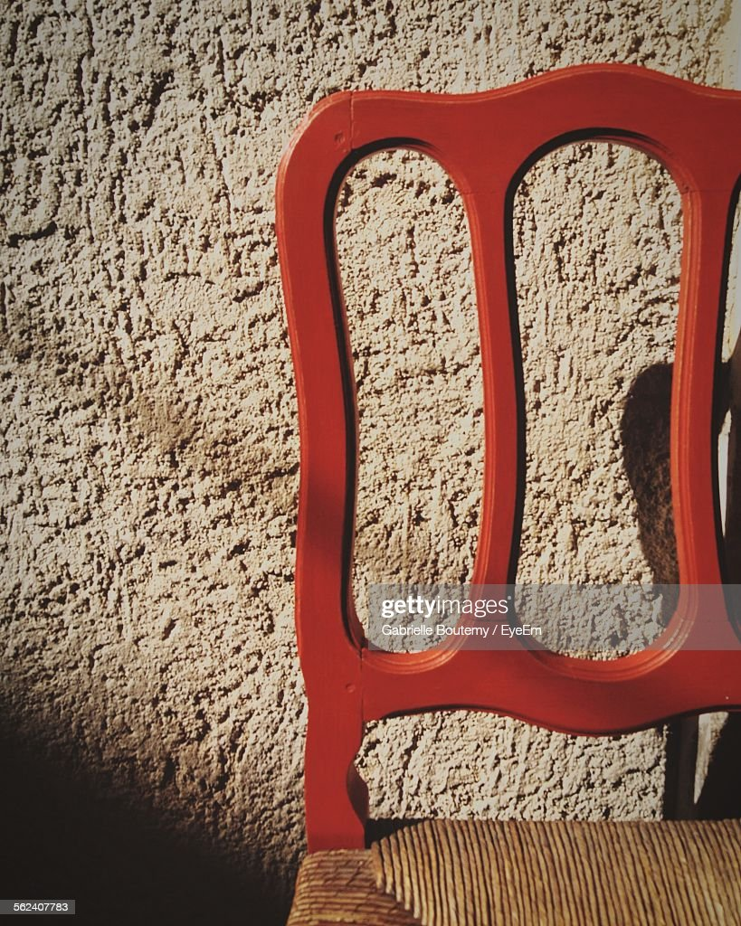 Close-Up Of Empty Chair