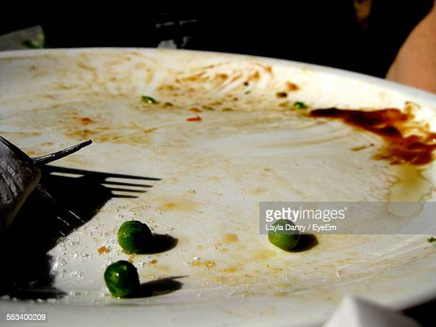 Close-Up Of Empty Plate