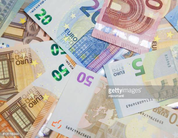 Close-Up Of European Union Currency